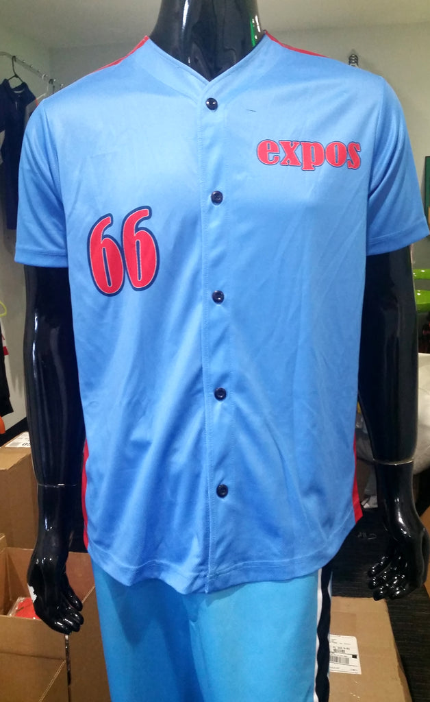 Expos; Button-Up - Custom Full-Dye Jersey