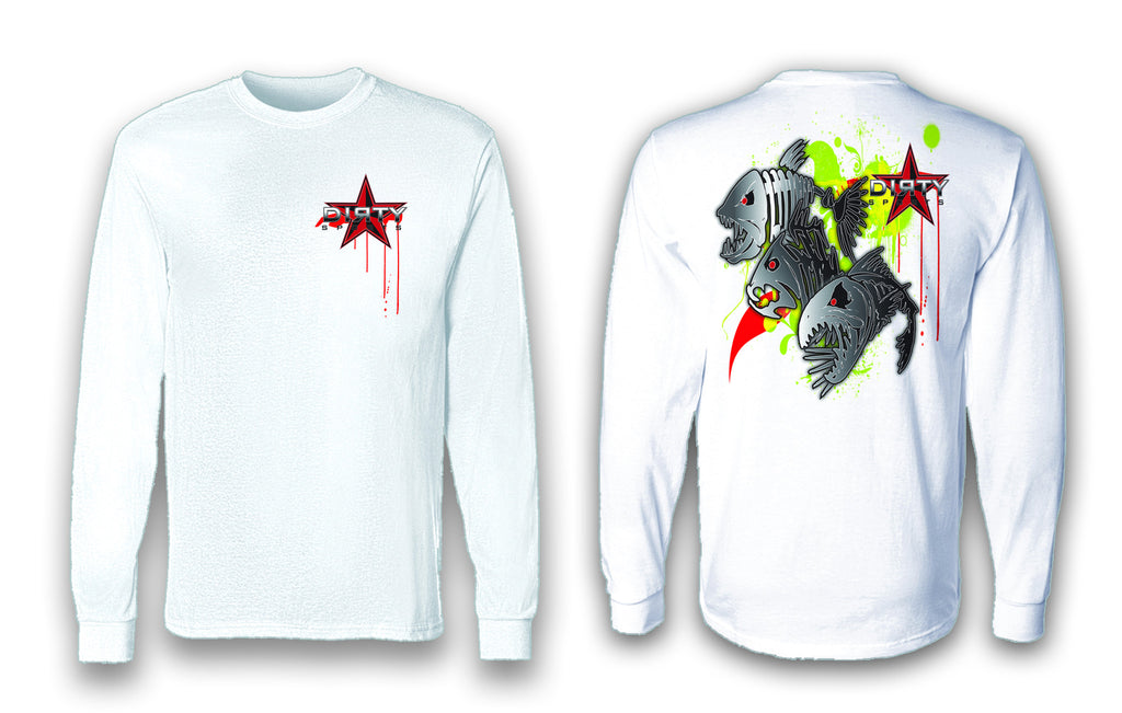 Fish Skulls - Long Sleeve Polyester Fishing Shirt