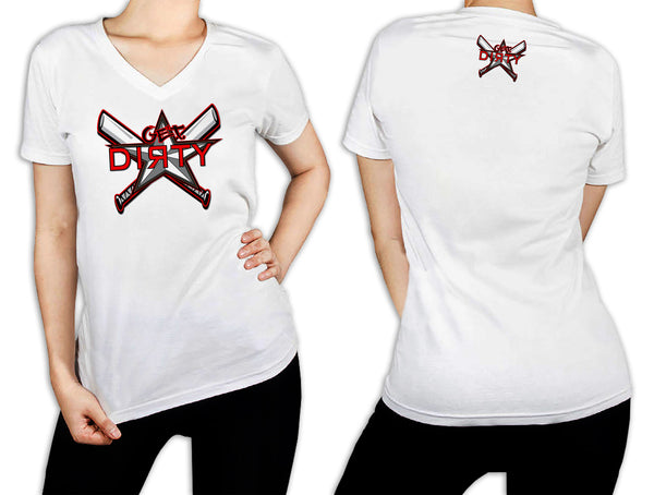 Women's White T-Shirt - Get Dirty Monica