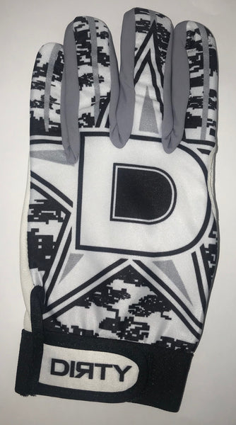 Dirty Sports, Batting Gloves - D-Star, Black