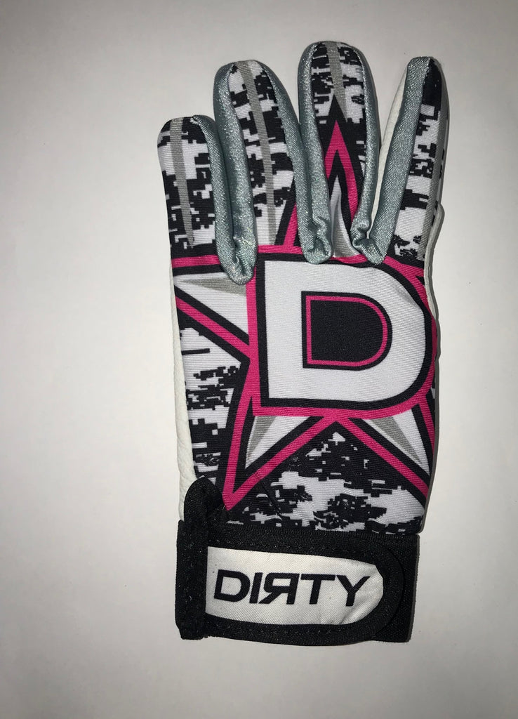 Dirty Sports, Batting Gloves - D-Star, Neon Pink