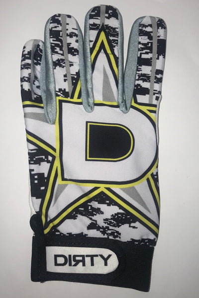 Dirty Sports, Batting Gloves - D-Star, Yellow