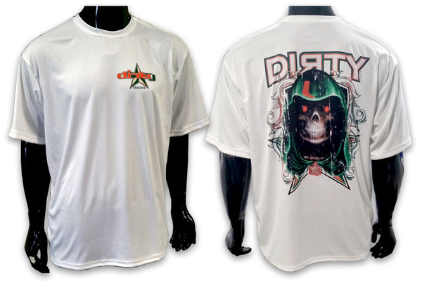 Grim Reaper SPOT - Miami HURRICANES - Short Sleeve Polyester Shirt