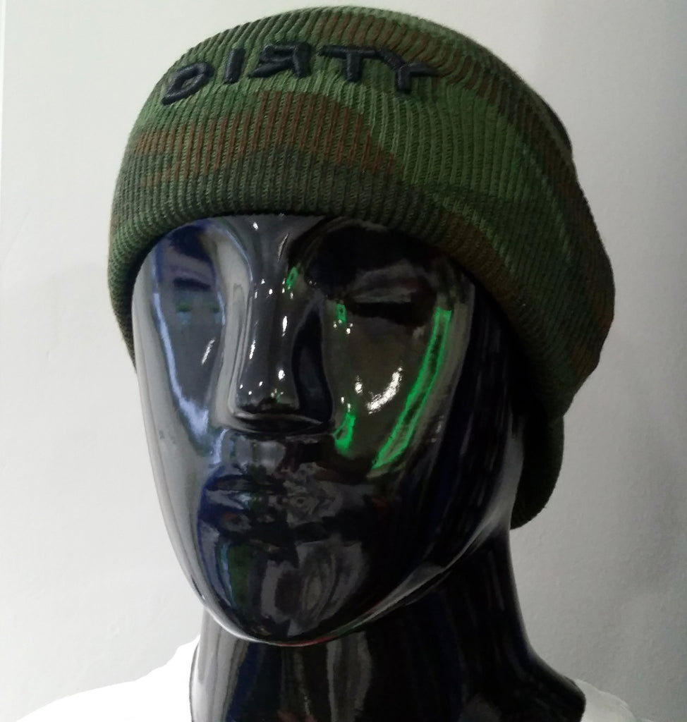 HAT - PACIFIC Knit with Visor - CAMO with Black DIRTY