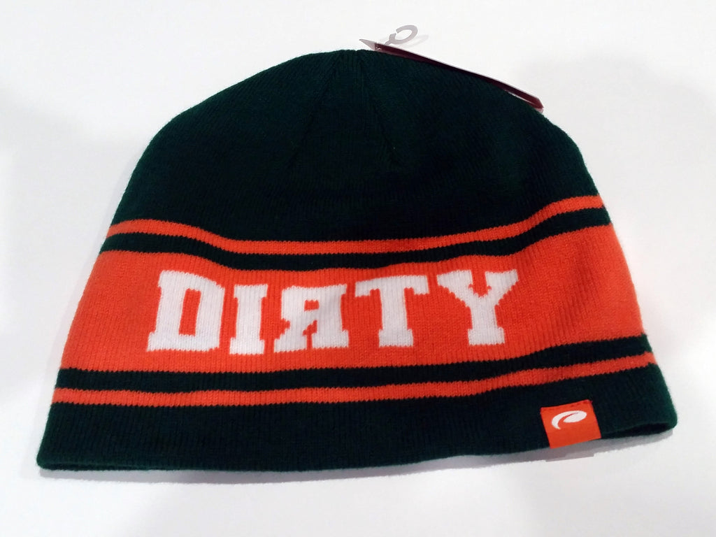 Green & Orange Beanie - White Dirty