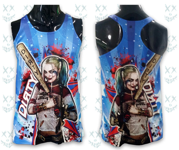 Harley Quinn, DIRTY SPORTS Theme - Women's TANK TOP, Full Dye-Sub