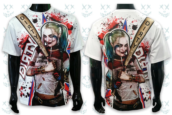 Harley Quinn, Plays DIRTY - FULL DYE Short Sleeve Polyester Shirt