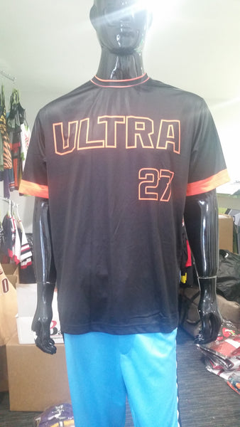 Hitmen Ultra, Black - Custom Full-Dye Jersey
