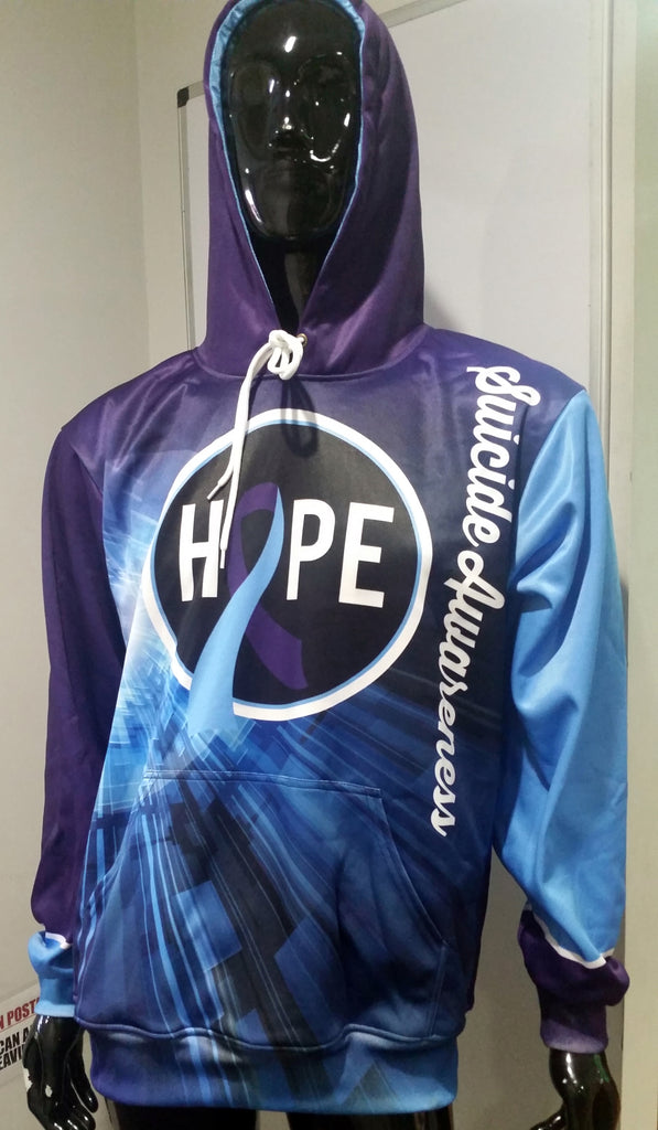 Hope, Suicide Awareness, Hoodie - Custom Full-Dye Jersey