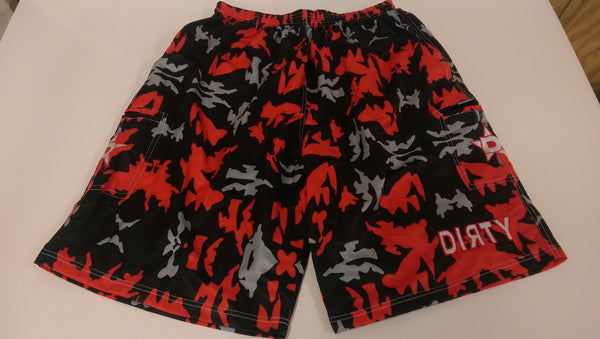 Dirty Sports, Micro Fiber Shorts - Red Camo