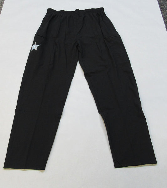 Lycra-Fiber Pants - Black with White D Star logo