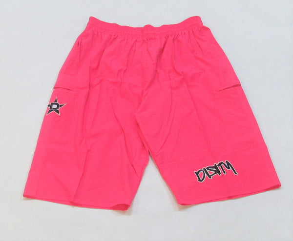 4-WAY STRETCH SHORT- Pink with Black Dirty Graffiti Logo