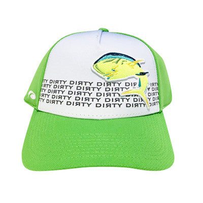 Snap Back-Neon Green Sublimated Hat w/ Dolphin #138