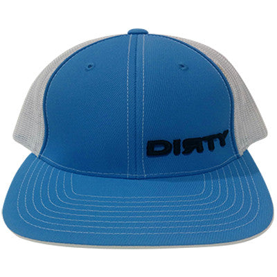 #86 Carolina Blue & White Hat - Black Dirty