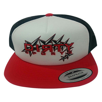 White Red & Navy Foam Trucker Snap Back #133