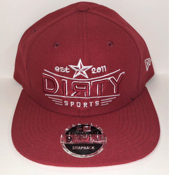 New Era 9FIFTY Snap-Back Hat -  RED- Red & White DIЯTY STAR Logo #291