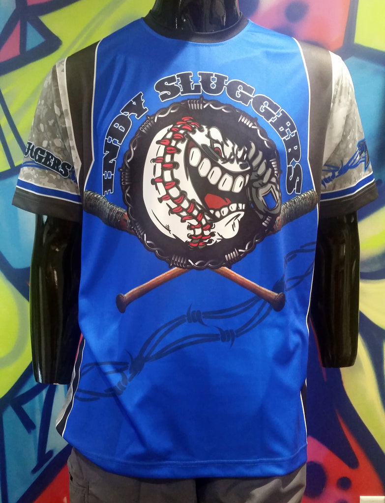 Indy Sluggers, Blue - Custom Full-Dye Jersey
