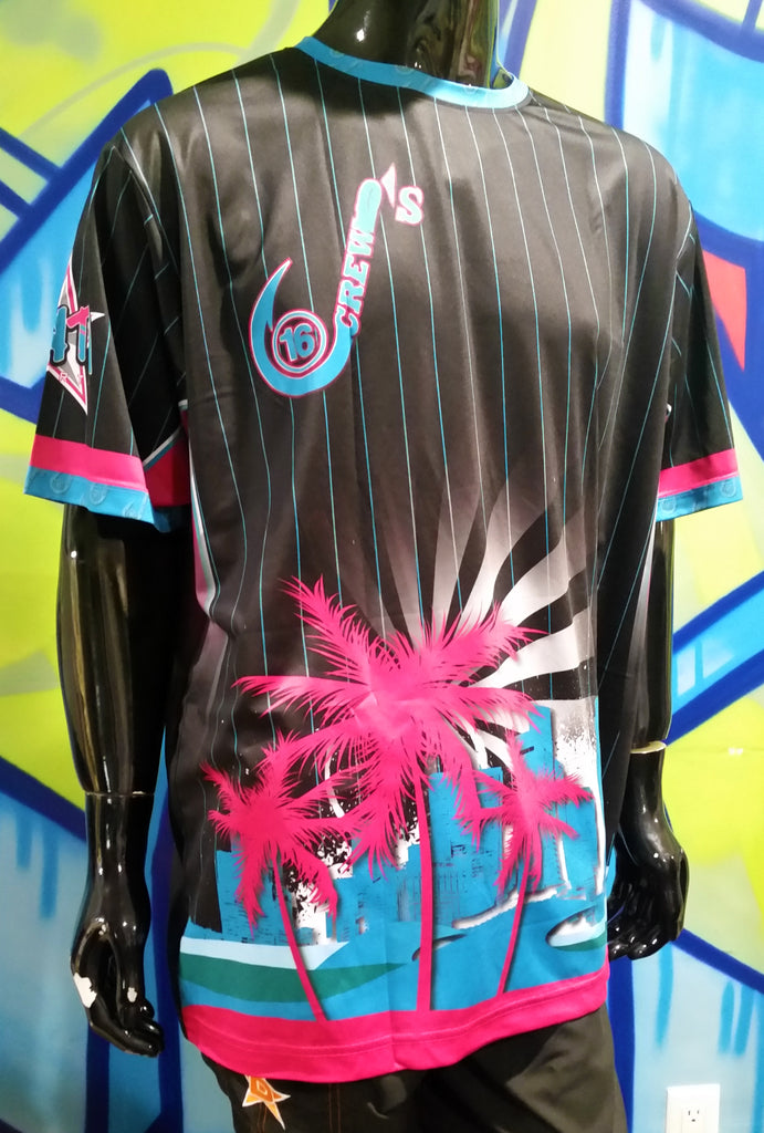 J's Crew, Tropical Stripes - Custom Full-Dye Jersey