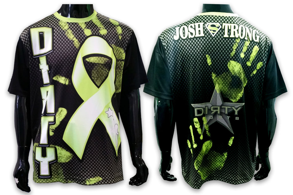Josh Strong - Neon Green & Black, Short Sleeve Shirt