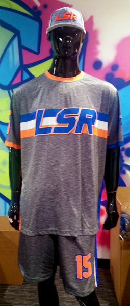 LSR, Heather Gray - Full-Dye Jersey, Hat & Shorts