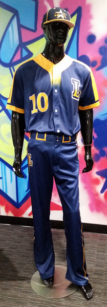 LaSalle Baseball, Button Up - Custom Full-Dye Jersey