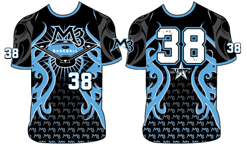 M3 Baseball TRIBAL 3 - Custom Full-Dye Jersey