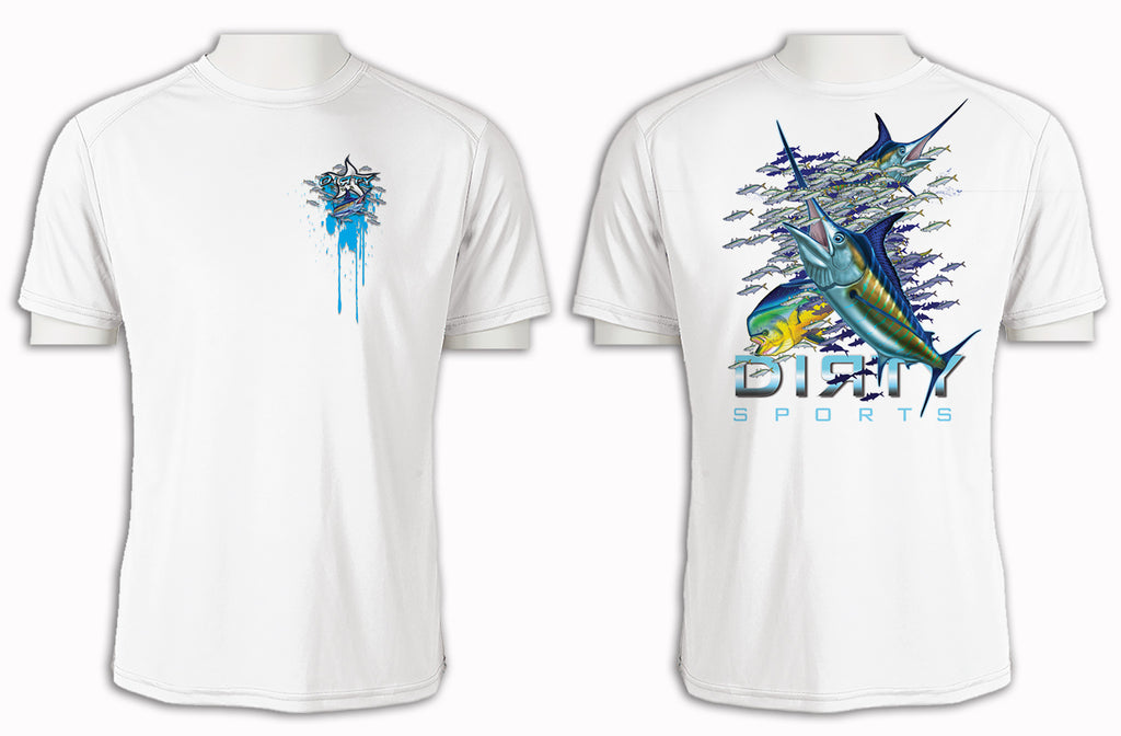 Marlin Bait School - Short Sleeve Polyester Shirt