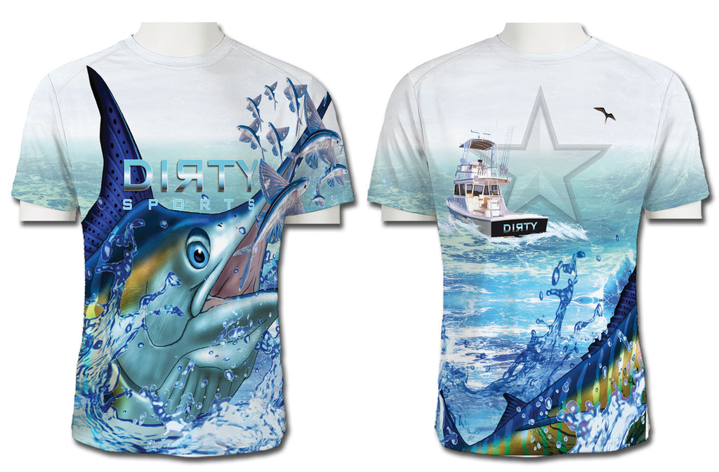 Marlin Wrap-Around with Charter - Short Sleeve Polyester Shirt