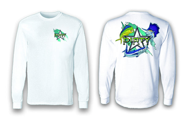 Mean Fish - Long Sleeve Polyester Fishing Shirt