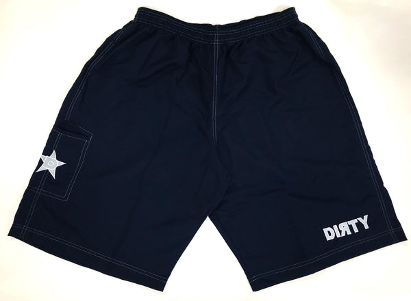 Dirty Sports, Micro Fiber Shorts - Navy Blue , White logo