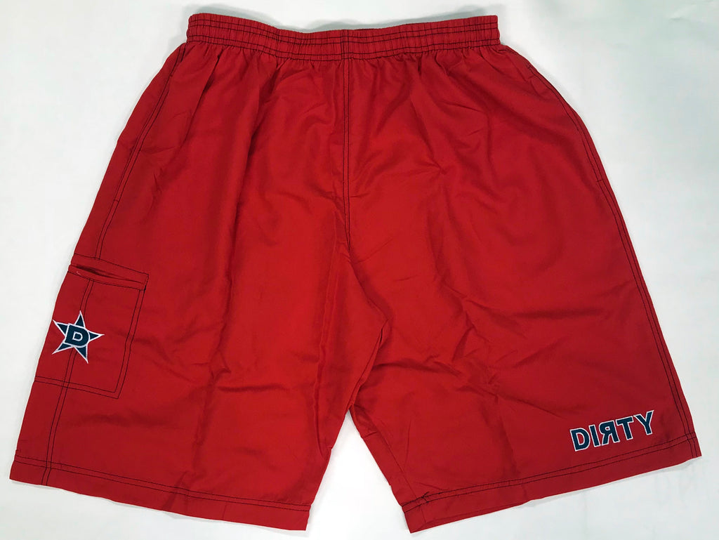 Dirty Sports, Micro Fiber Shorts - Red, Navy Blue logo