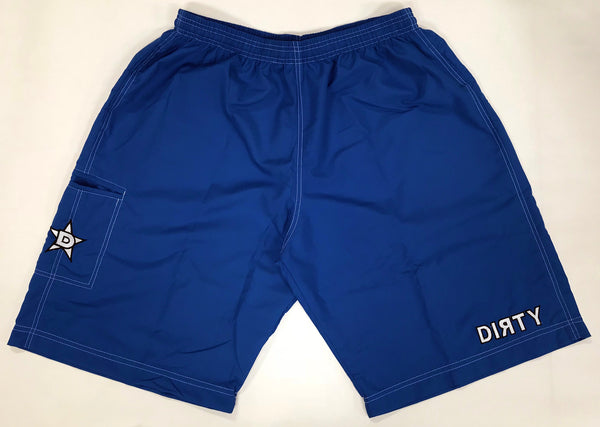 Dirty Sports, Micro Fiber Shorts - Royal Blue , White logo