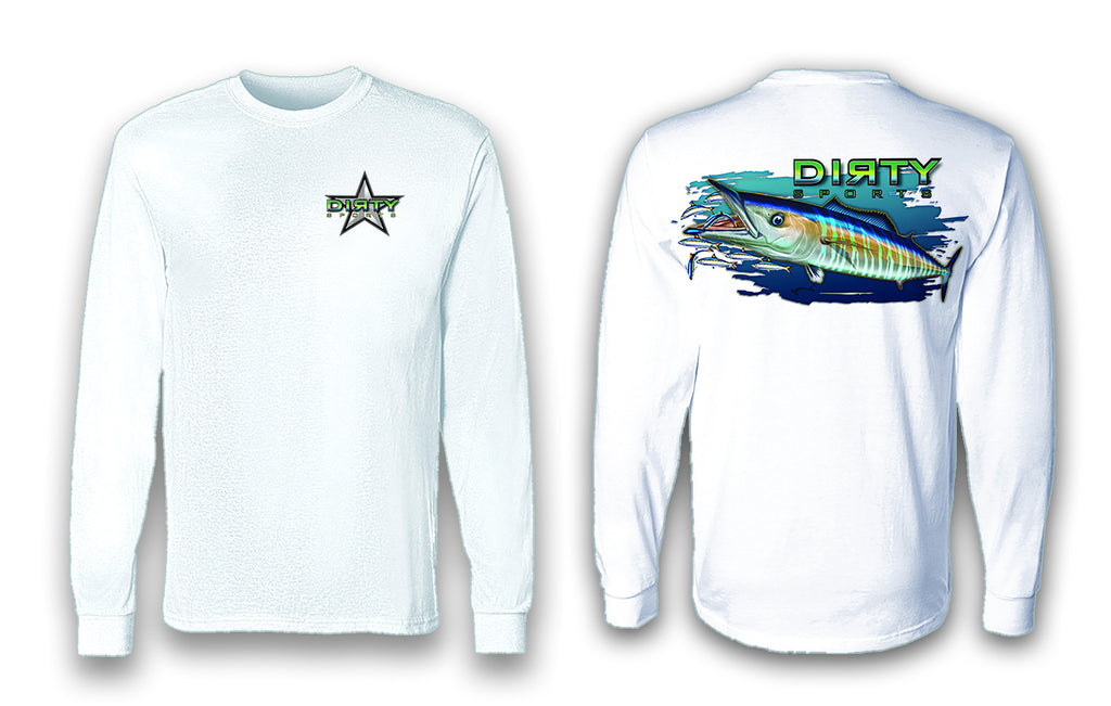 Wahoo - Long Sleeve Polyester Fishing Shirt