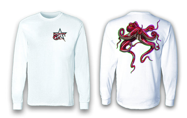 Octopus - Long Sleeve Polyester Fishing Shirt