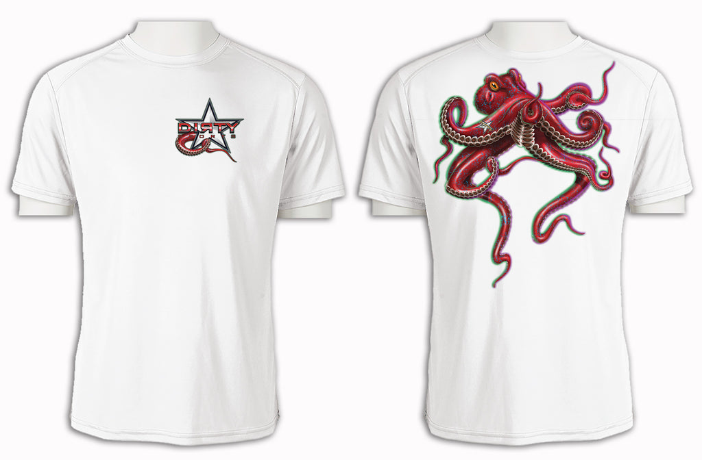 Octopus - Short Sleeve Polyester Shirt