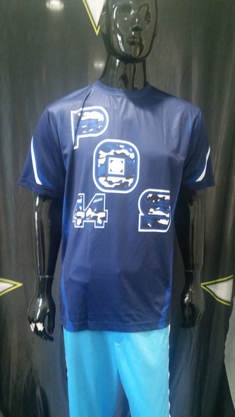 POS, Blue Camo - Custom Full-Dye Jersey