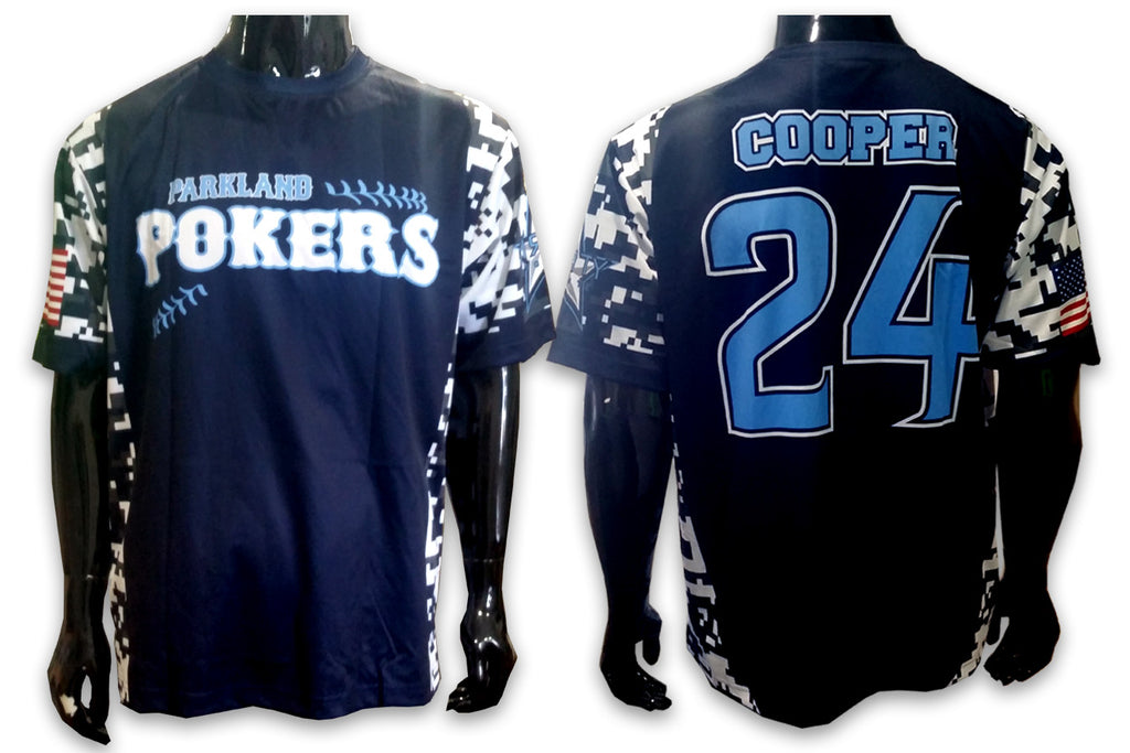 Parkland Pokers BLUE - Custom Full-Dye Jersey