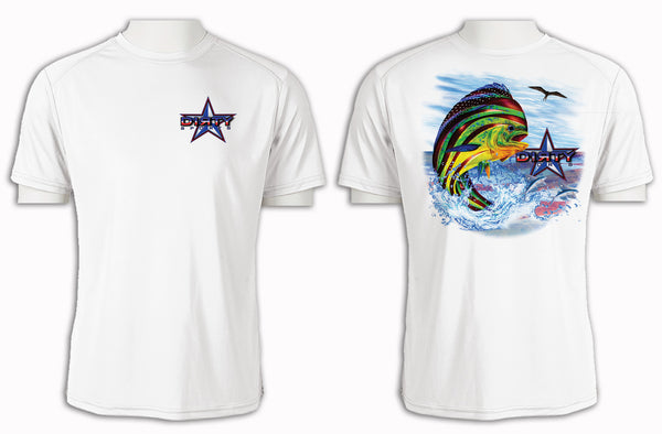 Patriotic Mahi Mahi - Short Sleeve Polyester Shirt