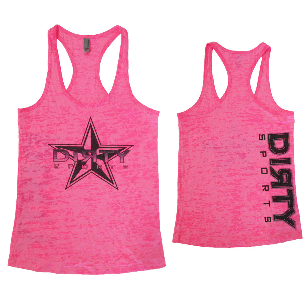 Pink Razor Tank with Dirty Sports Star
