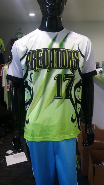 Predators, Green Tribal - Custom Full-Dye Jersey