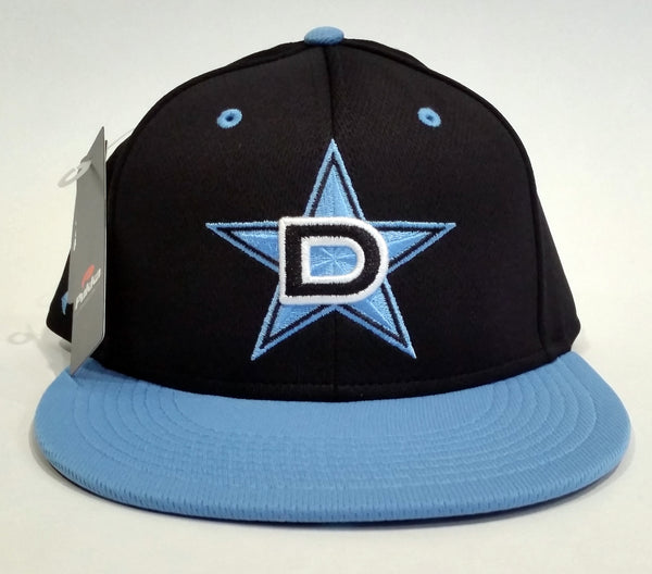 Pukka Snap-Back Hat - Black Carolina Blue D-Star logo - w/MEAN FISH Dye Sub visor #157