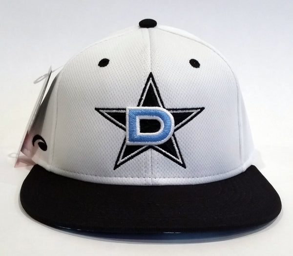 Pukka Snap-Back Hat - White Black Teal D-Star logo - w/MEAN FISH Dye Sub Visor #158