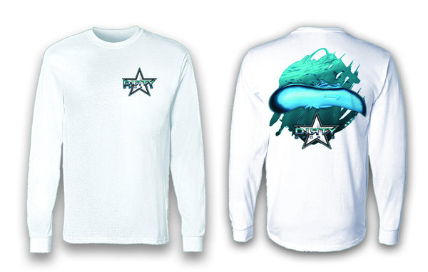 Sting Ray Shuffle - Long Sleeve Polyester Fishing Shirt