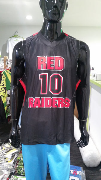Red Raiders, Basketball - Custom Full-Dye Jersey