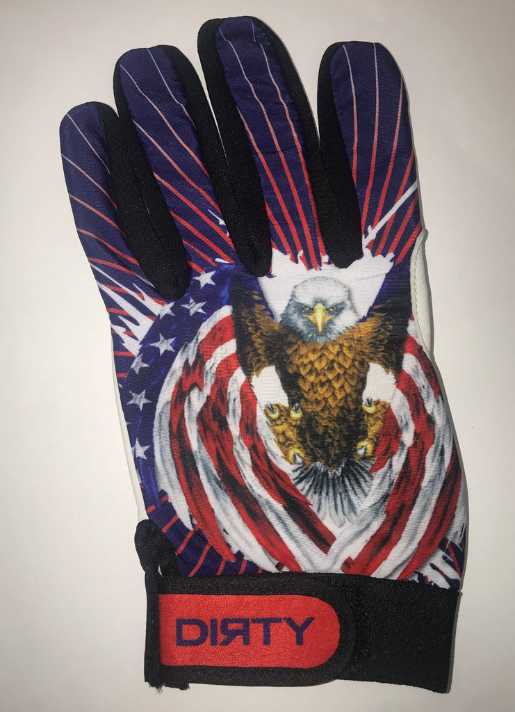 Dirty Sports, Batting Gloves - Patriotic Eagle