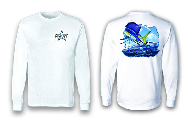 SailMahiWahoo Hybrid - Long Sleeve Polyester Fishing Shirt