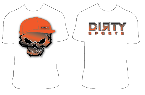DIRTY SKULL SHORT SLEEVE POLYESTER SHIRT
