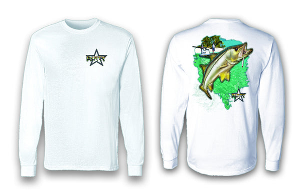 Snook Leap - Long Sleeve Polyester Fishing Shirt