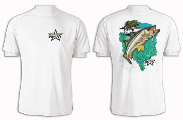Snook Leap - Short Sleeve Polyester Shirt