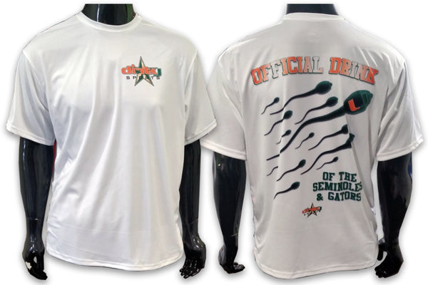 Miami HURRICANES Sperm - Short Sleeve Polyester Shirt
